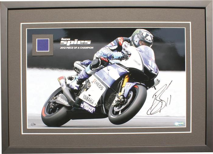 Ben Spies Piece of a Champion Signed