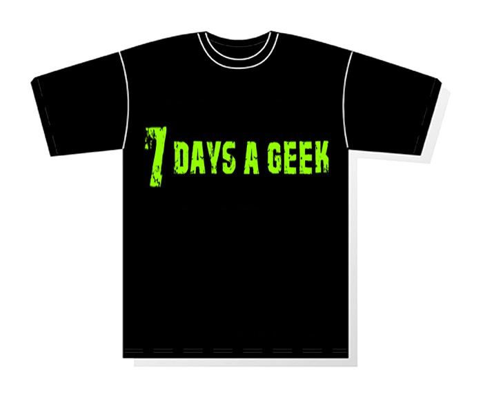 Exclusive 7 Days a Geek E.L.E. Kickstarter T-shirt