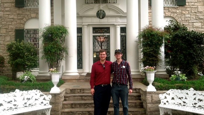 William Bryan and Tom Radovich at Elvis Presley's Graceland - April, 2013