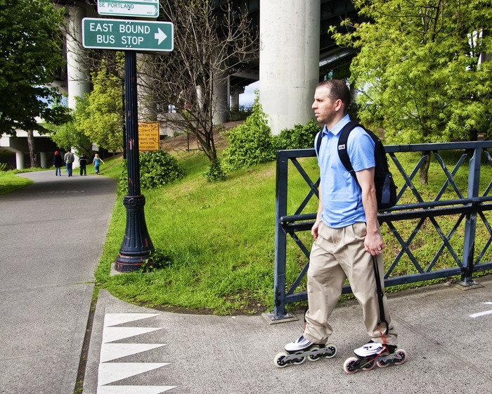 The Flex Brake enables you to commute to work on your fitness skates,