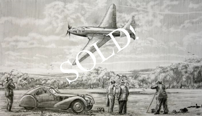 """First Flight"" - original pencil drawing by Phil West"