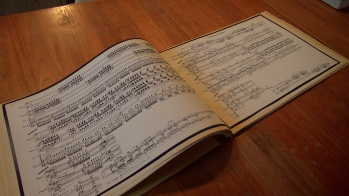 "George Crumb, Musical Score, ""Music for a Summer's Evening"", Photo by Babette Allina"