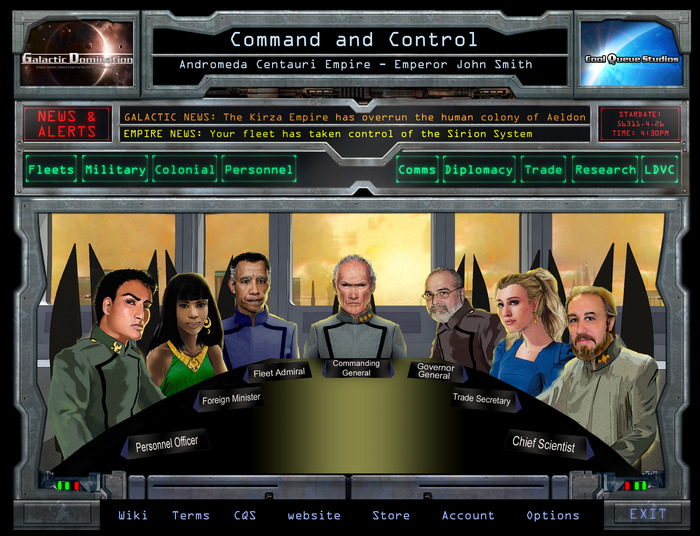 Command and Control UI (Human) Graphical mockup