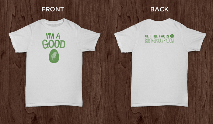 "Limited edition ""I'm a Good Egg"" t-shirt"