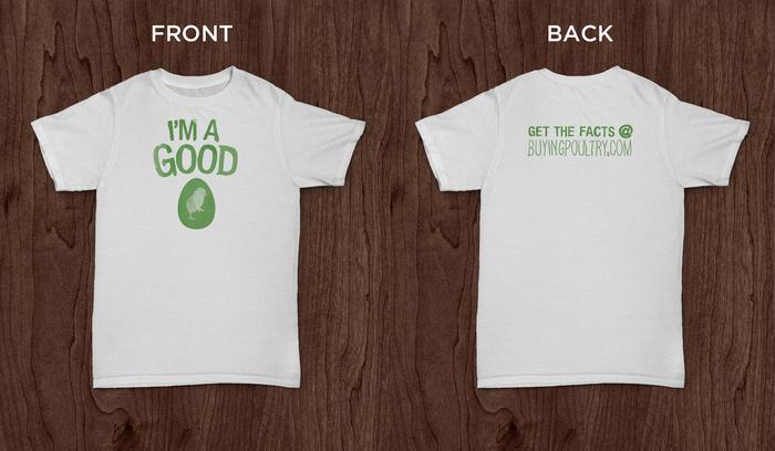 "Limited edition ""I'm a Good Egg"" t-shirt"