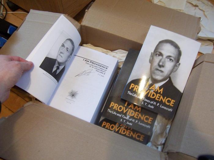H.P. Lovecraft Biography (Volumes 1 and 2) Autographed by S.T. Joshi
