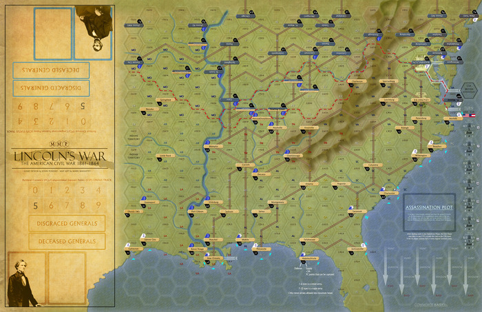 Lincoln's War Map (almost final artwork)