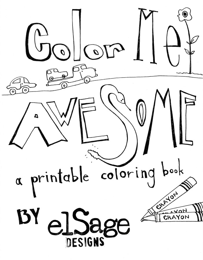 Printable coloring book, emailed right to your inbox!