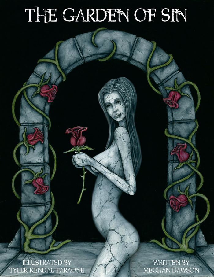 "THE GARDEN OF SIN - THE BOOK- Printed at 8.5""x11"" (Available in both Soft cover or Hardcover) This is the cover of The Garden of Sin"