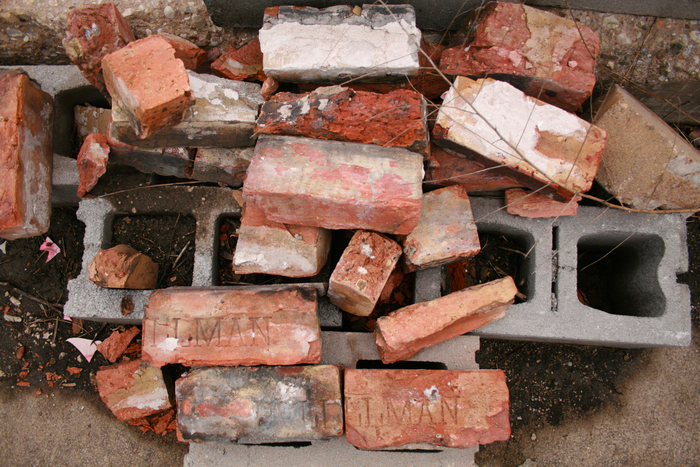 Pullman bricks found at the site