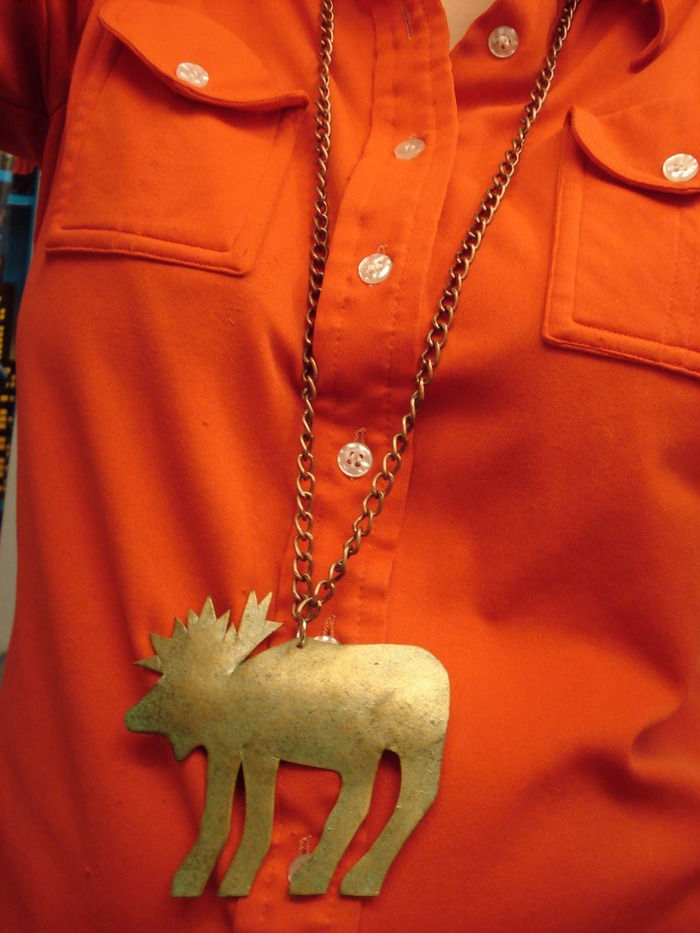 """Mighty Moose"" necklace made by Leah Angstman"