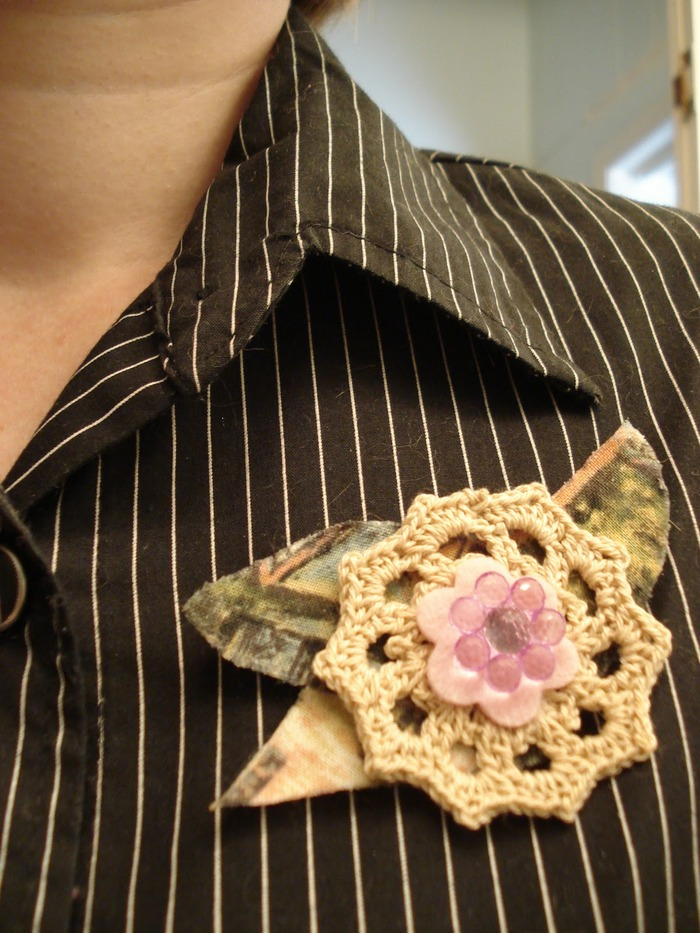 """Sylvia before suicide"" brooch made by Leah Angstman"