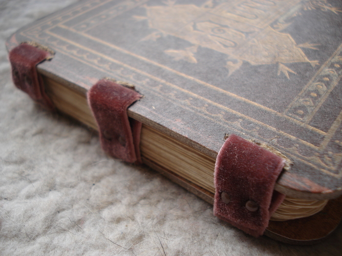Handmade book, pages, and book binding by Leah Angstman