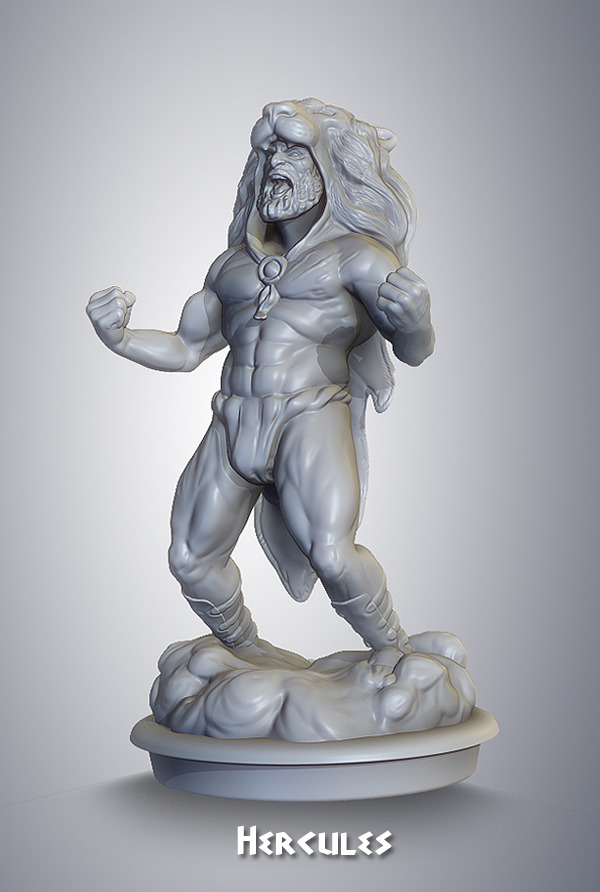 preproduction sculpt for resin miniature
