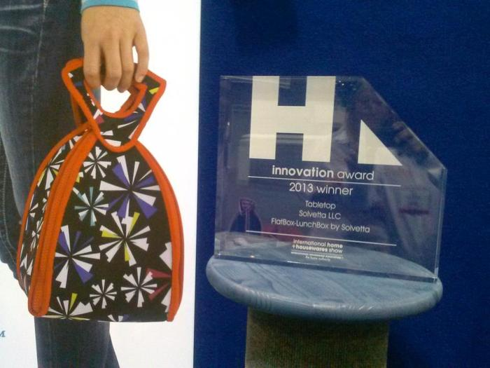 Judged by industry experts, the FlatBox-LunchBox WON the 2013 Innovation Award!