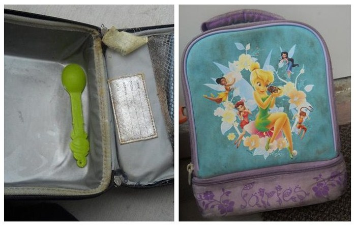 This is how dirty conventional lunchboxes get after just a few months of school.