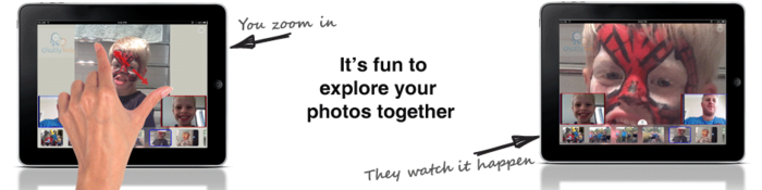 Explore your photos during a video conversation