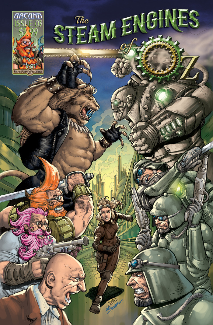 The Steam Engines of Oz Issue 3 Cover