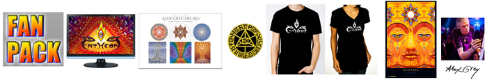 Digital bundle, sticker pack, admission coin, t-shirt and signed poster all for just $125 bucks!