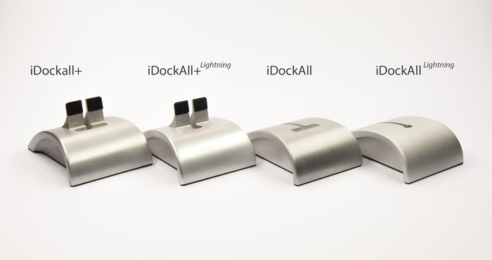 The four iDockAll options (also available in Matte Black)