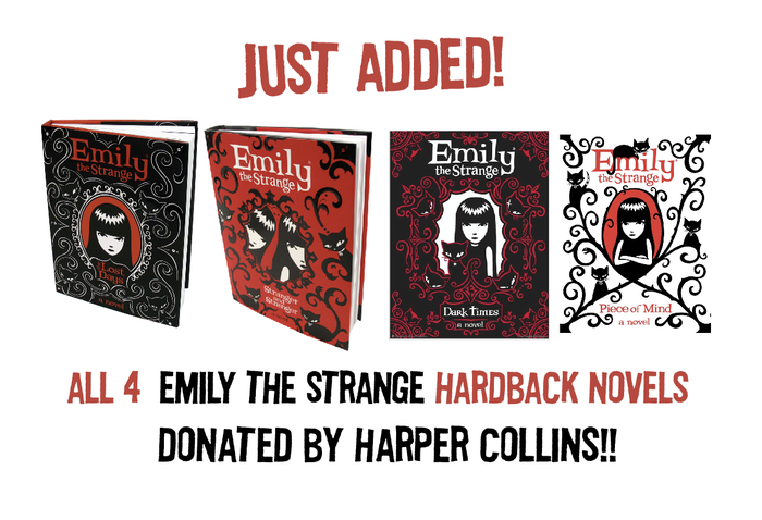 "$200 REWARD: ALL 4 Hardback Novels SIGNED, PERSONALIZED, DOODLED by Rob Reger, Jessica Gruner and Buzz Parker!! READ Emily's personal DIARIES! Winner of the American Library Association's ""Reluctant Reader List"" (suggested books for USA Educators)"