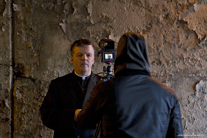 Fr. Pontifex filming with Spirit Juice Studios (Click)
