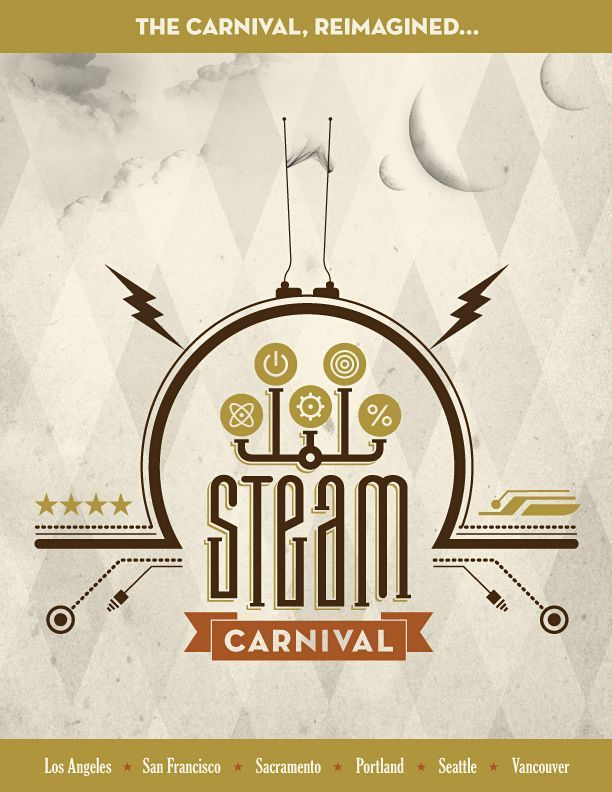 First version of our carnival poster