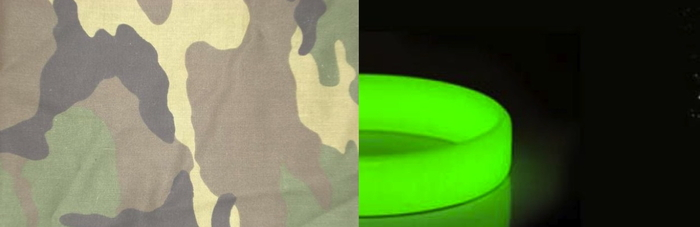 NEW silicone color options: camouflage and glow-in-the-dark