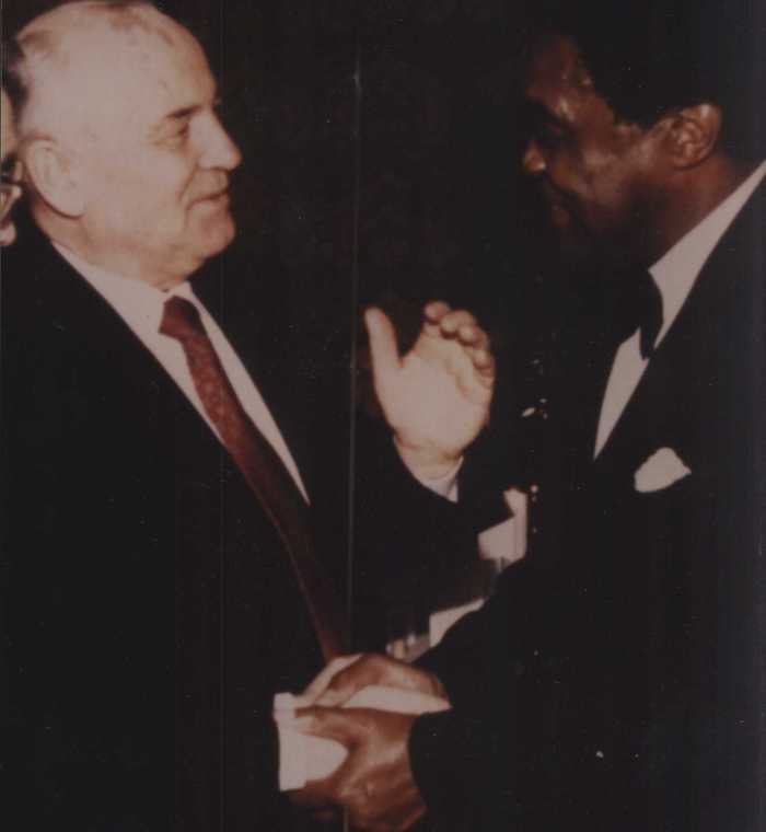 Eugene with Mikhail Gorbachev last President of the USSR