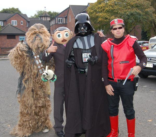 Chewbacca, Frank, Darth Vader and Captain Scarlet