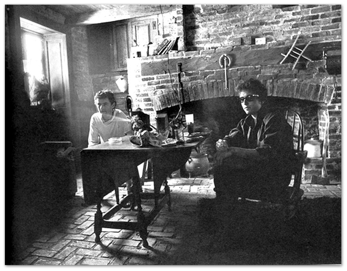 Victor Maymudes and Bob Dylan at Albert Grossman's house