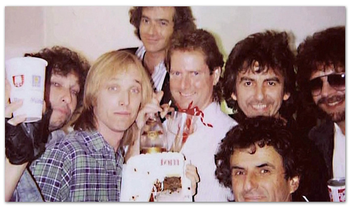 Victor Maymudes in the front at Tom Petty's birthday party