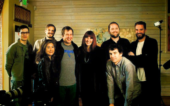 The crew after interviewing Jonathan Poneman and Megan Jasper of Sub Pop Records!