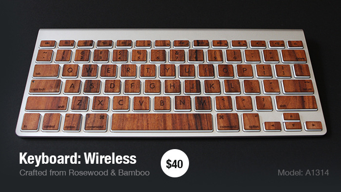 Wooden keyboard skin