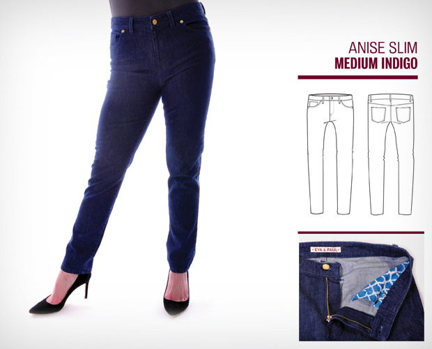 Our Medium Indigo Slim - only offered after we reach our stretch goal of $30,000