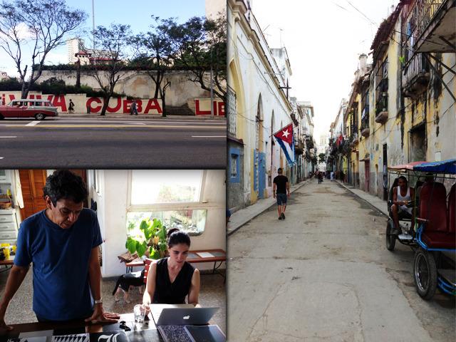La Habana momentos, Reinaldo Escobar y Yoani Sánchez