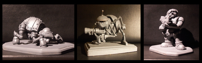 SECRET DEVELOPMENT MAQUETTES from Dogonauts world