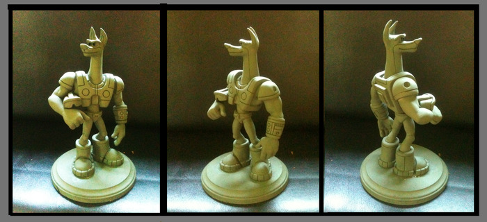 "Heroic CAPTAIN DOBER MAQUETTE (10"" tall)"