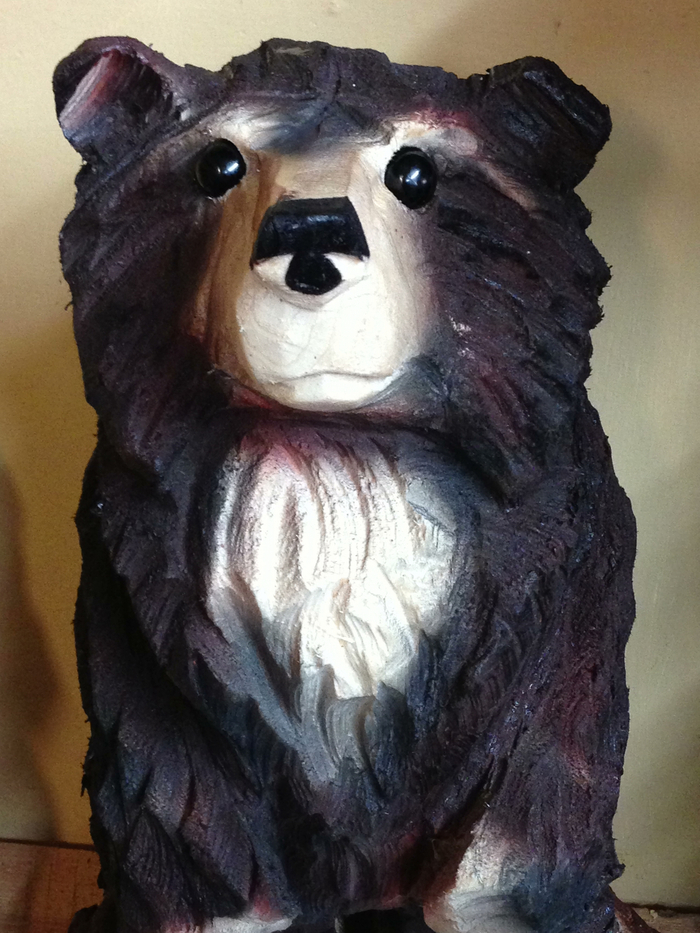 For Pledges of $250 & more, receive a handcrafted wooden Ettie the Bear by Bill Fee
