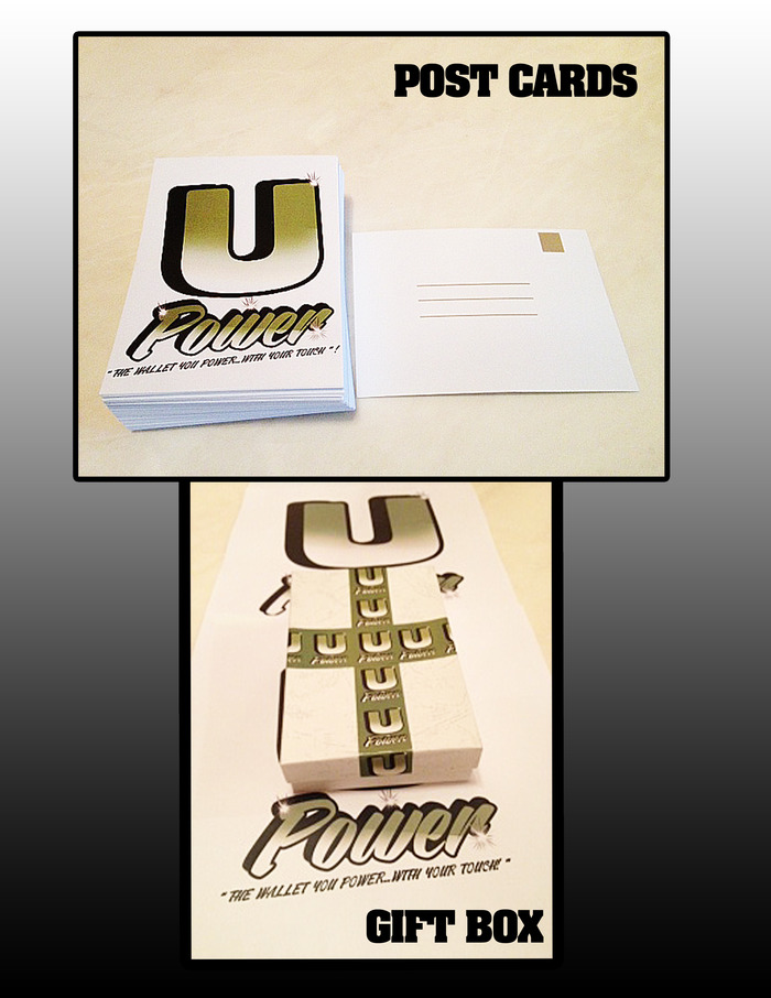 U Power wallet Postcards & Gift Box