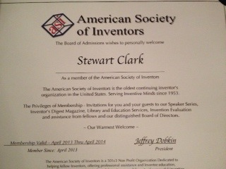 Active member of the American Society of Inventors