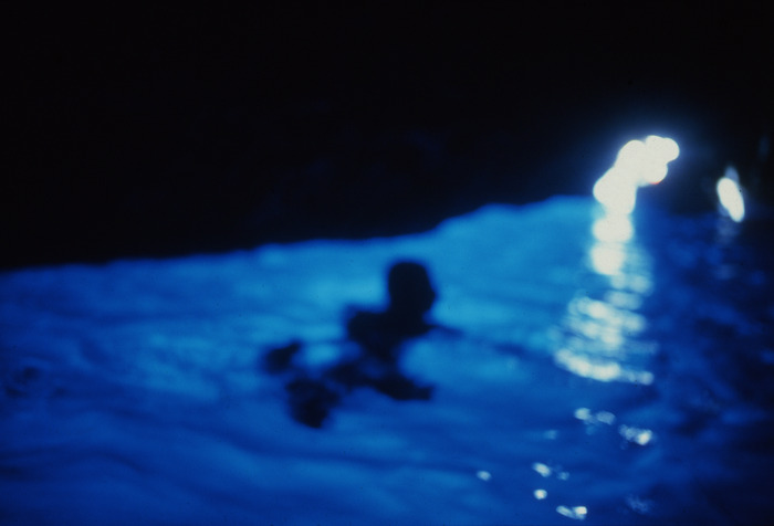 Nan Goldin, Gigi in the Blue Grotto with Light, Capri, 1997