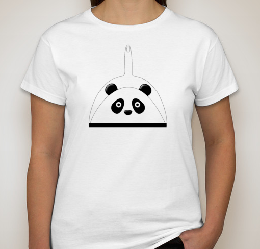 White Dust Panda T-Shirt