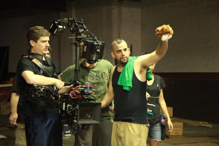 Director/Cinematographer Dominick Sivilli on set for the trailer shoot