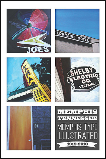 Memphis Type Illustrated Print #2