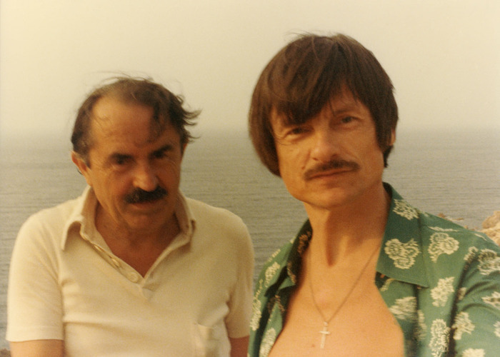 Tonino Guerra and Tarkovsky in Sardinia, Costa Paradiso (courtesy of Enrica Antonioni)