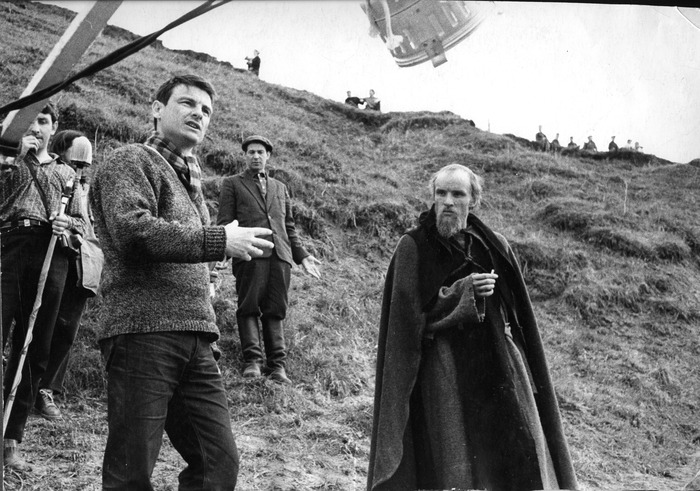 Tarkovsky on the set of Andrei Rublev (Courtesy of Mosfilm)