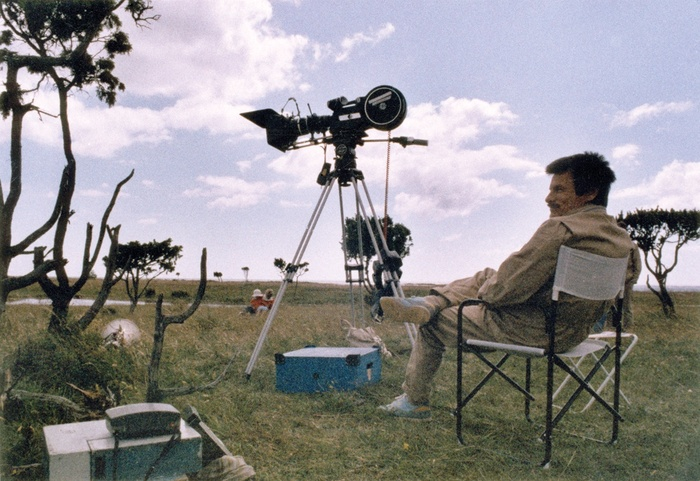 Andrei Tarkovsky on the set of Sacrifice (Courtesy of Layla Alexander-Garrett)