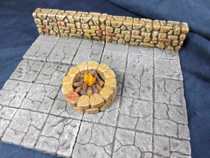 Campfire insert from the fire sources accessory set in the well.