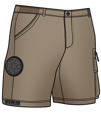 Stash Shorts - Khaki Color